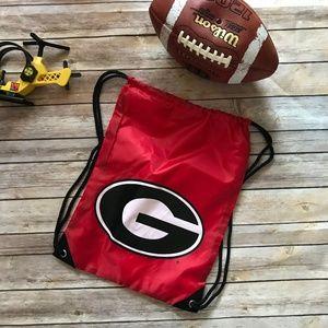 Georgia String Bag Sack Pack Backpack NEW UGA Red